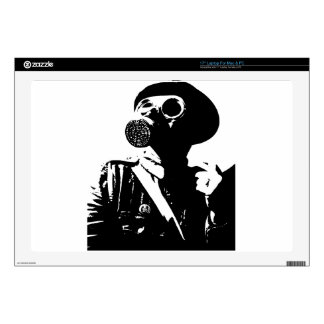 Man with Gas Mask Skins For Laptops