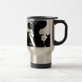 Man with Gas Mask Travel Mug