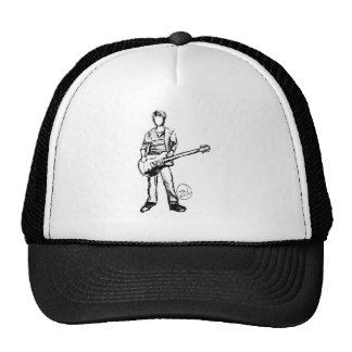 Man with Guitar Trucker Hat