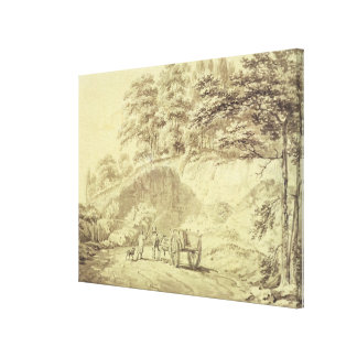 Man with Horse and Cart Entering a Quarry c 1797 Stretched Canvas Print