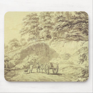 Man with Horse and Cart Entering a Quarry, c.1797 Mouse Pad