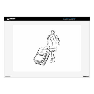 Man With Luggage Decal For Laptop