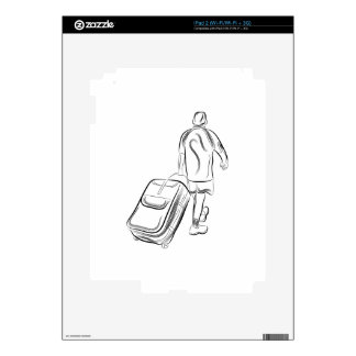 Man With Luggage Skins For The iPad 2