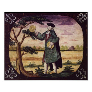 Man With Matzah by Philip Isac Levy - Circa 1739 Poster