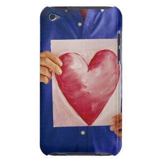 Man with painting of heart iPod touch cover