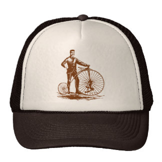 Man with Penny Farthing - Walnut Brown Trucker Hat