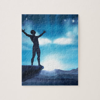Man With Raised Arms Concept Jigsaw Puzzle