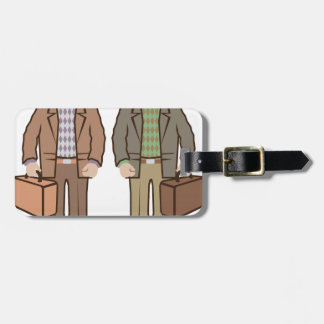Man with suitcase vector bag tag