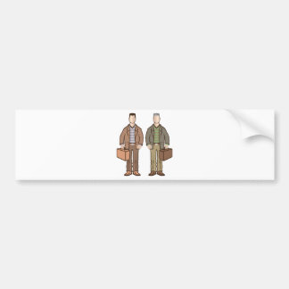 Man with suitcase vector bumper sticker