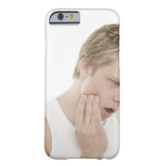 Man with toothache barely there iPhone 6 case