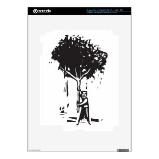 Man with tree iPad 3 decals