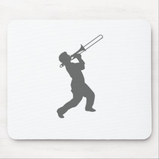 man with trombone mouse pad