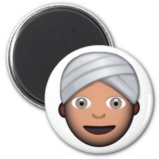 Man With Turban Emoji Magnet