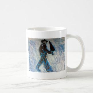 Man with Umbrella Classic White Coffee Mug
