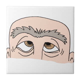 Man with unibrow ceramic tile