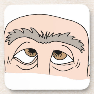 Man with unibrow coaster