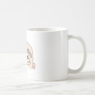 Man with unibrow coffee mug