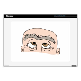 "Man with unibrow decals for 15"" laptops"