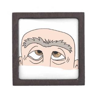 Man with unibrow jewelry box