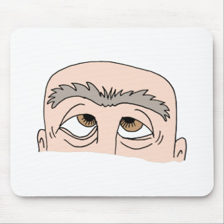 Man with unibrow mouse pad