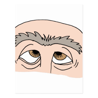 Man with unibrow postcard