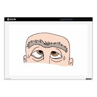 "Man with unibrow skins for 17"" laptops"