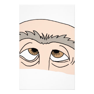 Man with unibrow stationery