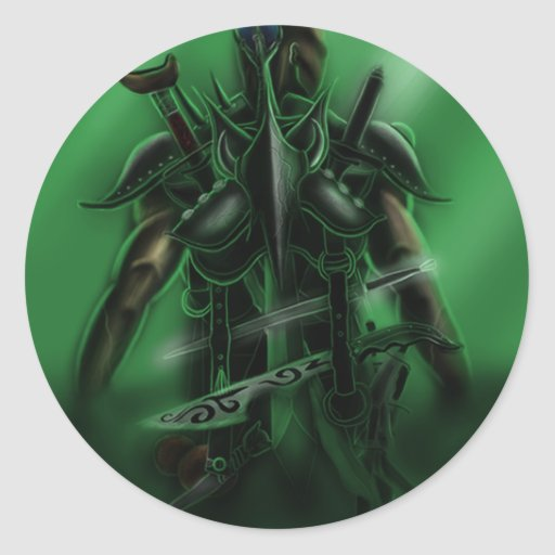 Man with Weapons Tote 2 Classic Round Sticker