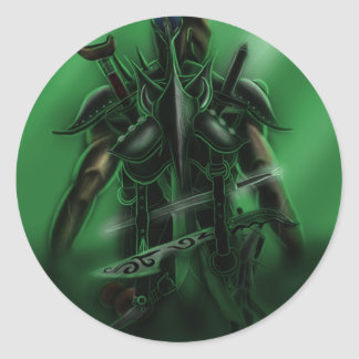 Man with Weapons Tote 2 Round Stickers