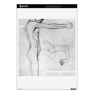 Man with with outstretched arms by Gustav Klimt PS3 Slim Console Decals