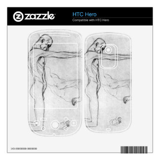 Man with with outstretched arms by Gustav Klimt Skins For HTC Hero