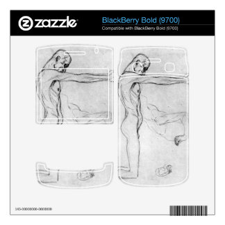 Man with with outstretched arms by Gustav Klimt Skins For BlackBerry