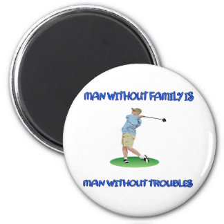 Man Without Family 2 Inch Round Magnet