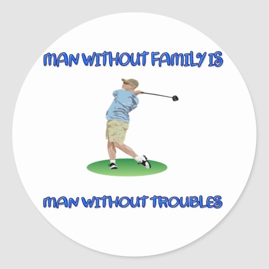 Man Without Family Classic Round Sticker