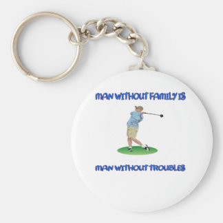 Man Without Family Keychain