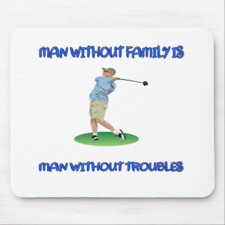 Man Without Family Mouse Pad
