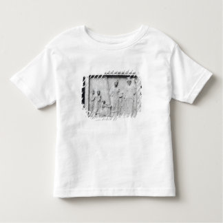 Man, woman and child before an altar toddler t-shirt
