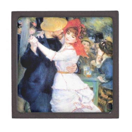 Man woman dancing renoir painting premium trinket box