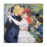 "Man woman dancing renoir painting tile<br><div class=""desc"">Painting with a dancing couple.</div>"