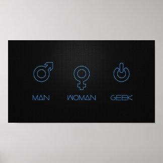 Man, Woman, Geek Poster