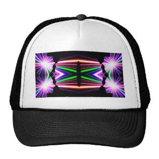 Man Woman Kaleidoscope Lightshow Trucker Hat