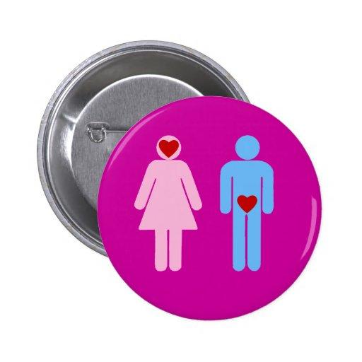 Man Woman Love Humor Tshirt Pinback Button