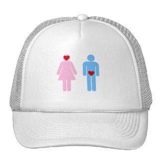 Man Woman Love Humor Tshirt Trucker Hat