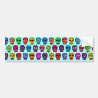 Man & Woman Sugar Skulls Bumper Stickers