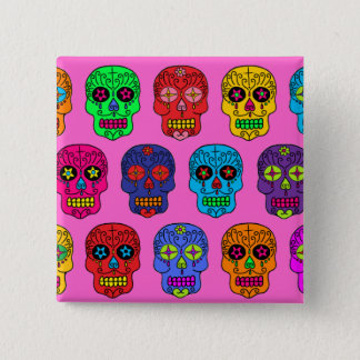 Man & Woman Sugar Skulls Button