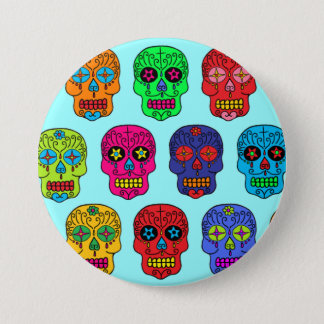 Man & Woman Sugar Skulls Pinback Button