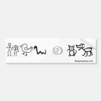Man_women_animals_bumpersticker Bumper Sticker