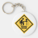 Man @ Work Key Chain