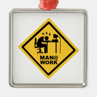 Man @ Work Metal Ornament