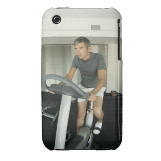 Man working out in a gym 2 iPhone 3 case